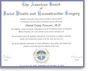 Diploma American Board of Facial Plastic and Reconstructive Surgery