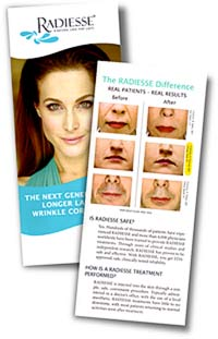 Radiesse Brochure featuring Dr. Pearson's patient